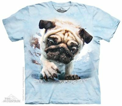 Underwater Dog Duncan Adults Pug T-Shirt - Pugs & Dog Breeds by The Mountain