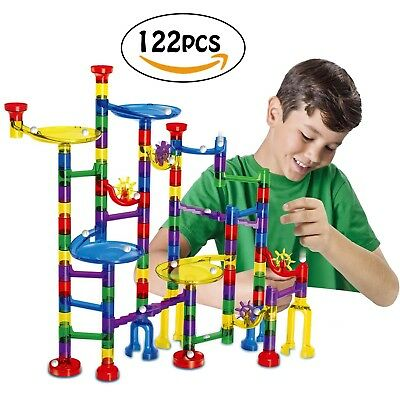 Marble Run Toy - Meland 122 Pcs Pipeline Game STEM Learning Toy, Educational