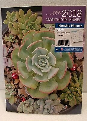 2018 Monthly Planner, Large 8 x 11 size, by Papercraft, New