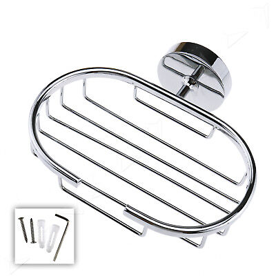 Stainless Bathroom Chrome Wall Mounted Soap Dish Holder Soap Basket Storage