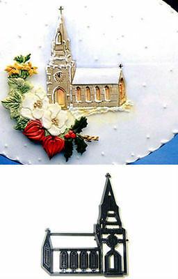 Church Chapel Cutter of Embosser for Cakes