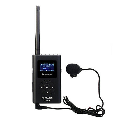 Portable 0.6W FM Transmitter MP3 Broadcast Radio Transmitter for Car Meeting HOT