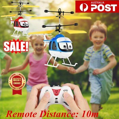 Induction Flying Toy RC Helicopter Remote Control Drone Kid Plane Toy With Light