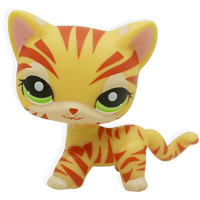 Hasbro  Little Pet Shop Collection LPS366 Short Hair Orange Tiger Striped Cat