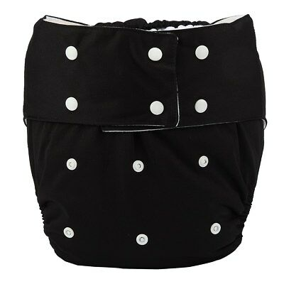 1 Adult Cloth Diaper Nappy Teen Reusable Disability Incontinence Black For Men
