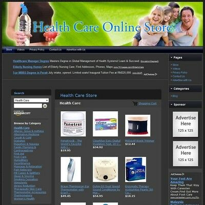 HEALTH CARE STORE - Turnkey Affiliate Website + Dropship + FREE Domain & Hosting