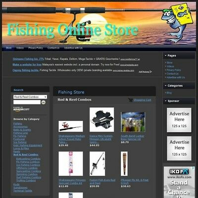 FISHING STORE - Top Dropship Website - Faster Return on Investment + FREE Domain