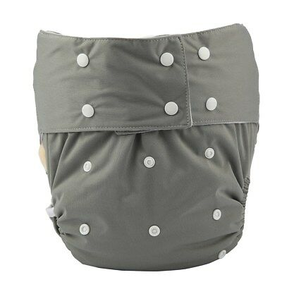 1 Adult Cloth Diaper Nappy Teen Reusable Washable Incontinence Grey For Men