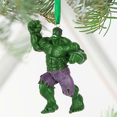 Disney Store Sketchbook The Hulk  Christmas Ornament New In Box...ready To Hang