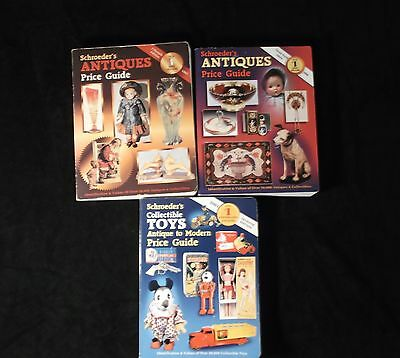 Lot of 3 Schroeder's Antiques & Collectibles 15th,17th & 24th Edition Price List