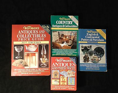 Lot of 4 Warman's Antiques & Collectibles Guide 2nd, 27th, 31th & Country Ed.