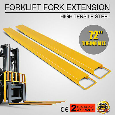 """72 x 5.5"""" Forklift Pallet Fork Extensions Pair Lifting Lifts Trucks Industrial"""
