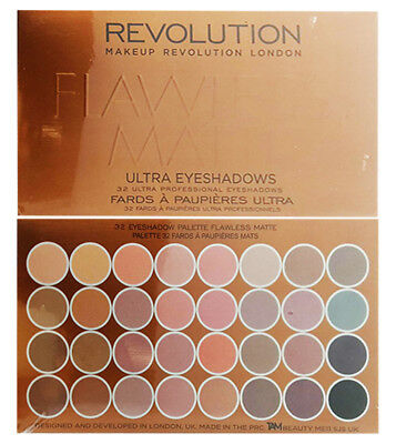 Makeup Revolution Flawless Matte Palette 32 Shade Ultra Eye Shadow New