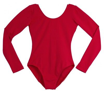 """(X-Large, Red) - Adult's Long Sleeve Leotard by """"American Theatre Dancewear"""""""
