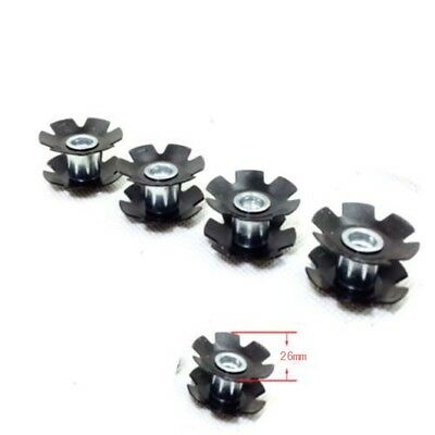 """1/5Pcs Bicycle MTB Road Bike Headset Star Nut For Fork 1-1/8"""" (28.6mm)"""