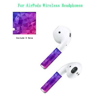 DE Purple Vinyl Sticker Aufkleber Haut Aufkleber für AirPods Wireless Headphones