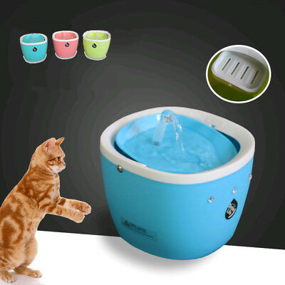 Cute Pets Water Fountains For Cats Dogs Automatic Round Water Bowl Eletric