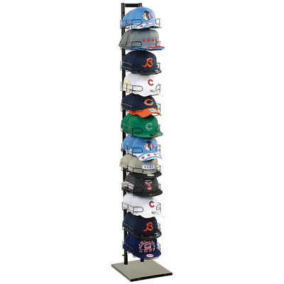 Baseball Cap Rack Tower Display 120 Hat 12-Tier Floor Standing Store Fixture New