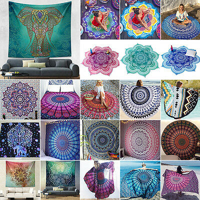 Indian Wall Hanging Tapestry Mandala Hippie Decor Yoga Mat Blanket Rug Bedspread