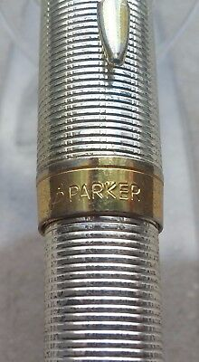 ⭐ Used Parker Sonnet fountain pen 18k 750 nib - Silver & Gold - Made in France ⭐
