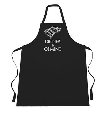 Dinner is Coming - Funny Game of Thrones Stark Winter Slogan Inspired Apron