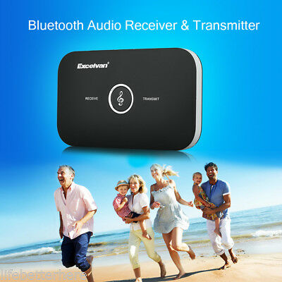 2IN1 HIFI Wireless Bluetooth 3.5MM Audio Ricevitore Trasmettitore AUX Per TV MP3