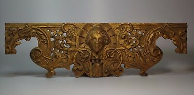 Antique French Carved Wood Gilt Panel