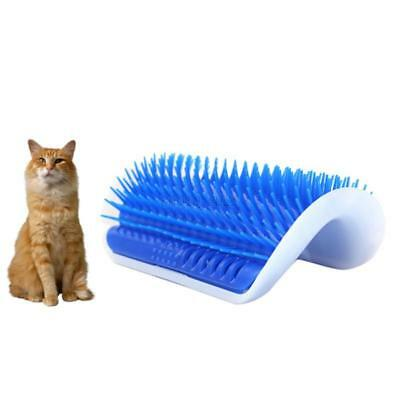 1 x Pet Dog Cat Grooming Hair Remover Brush Self Groomer Wall Corner Massage Kit
