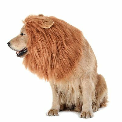 Realistic&Funny Lion Mane Wig with Ear&Tail for Large Dogs Costume Dress up