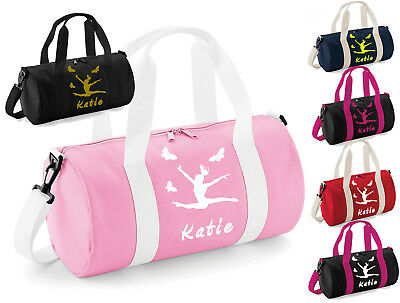 Personalised Girls Kids Dance Bag Pink Ballet Gymnastics Uniform Gym Kit