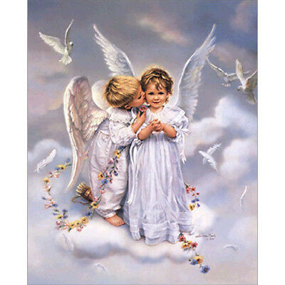 2x Angel DIY 5D Diamond Painting Embroidery Cross Crafts Stitch Home Dekor