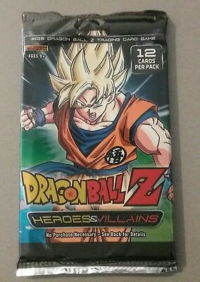 Dragonball Z DBZ CCG 12 Card Booster Pack Brand New Sealed Heros and Villains
