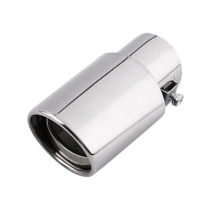 Round Universal Fits Car Stainless Steel Chrome Exhaust Tail Muffler Tip Pipe JS