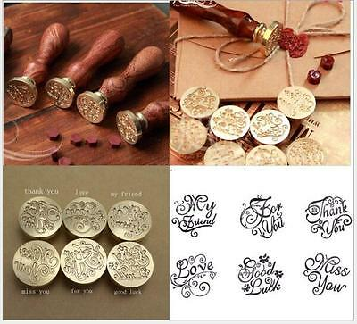Retro Blessing Initial Sealing Wax Seal Stamp Logo Letter Envelope Invitation