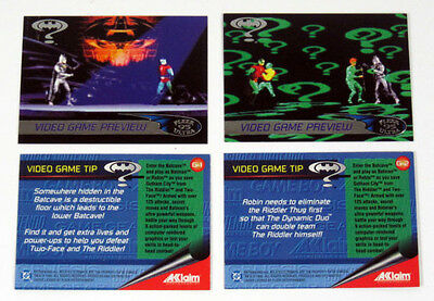 Batman Forever - Video Game - Complete Chase Card Set (2) 1995 Fleer ULTRA - NM
