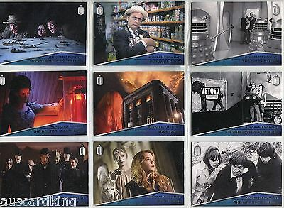 Doctor Dr Who 2015 - Memorable Moments - Chase Card SET (10) - Topps 2015 - NM