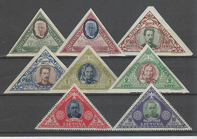 Lithuania, 1933 Airmail Set Mh