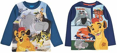 Boys Disney The Lion Guard Long Sleeved Top 100% Cotton Kion T Shirt Kids Size