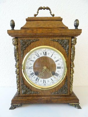 Dutch Vintage Antique JEKA Mantel Clock(Junghans Kienzle Warmink Hermle era)