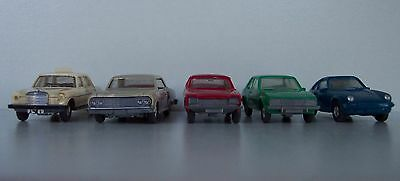 Set of 5 HO-scale Model Cars by Wiking - Lot #3