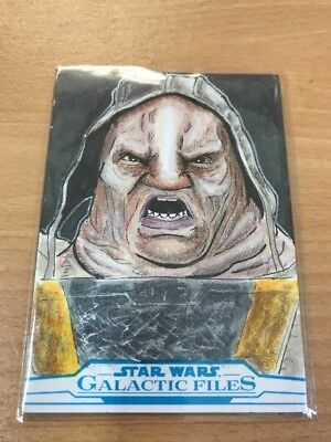 Star Wars Galactic Files Reborn Sketch Card By Tim Smith