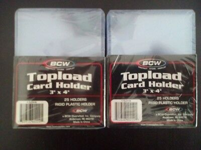 Bcw Trading Card Toploader X50 New And Sealed