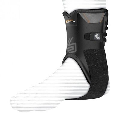 (Extra Large, Black) - Shock Doctor Ankle Stabilizer with Support Stays