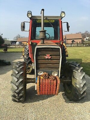 Massey Ferguson 590 Turbo 4WD with grass topper - 1 owner from new, 6351 hours