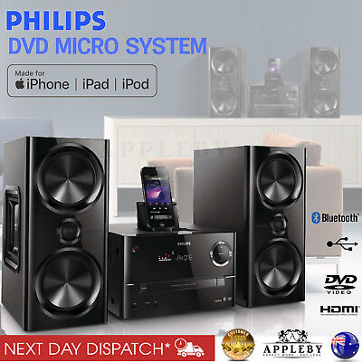Mini Home Cinema System Hi-Fi Stereo Karaoke Bluetooth HDMI 1080p DVD USB
