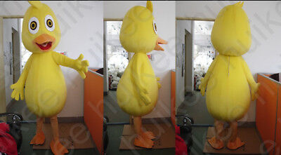 Yellow Duck Mascot Costume Fancy Dress Cartoon Suit Adult SIZE.