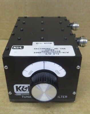K&L 3TNF-1000/2000-N/N Bandreject Microwave Filter 3TNF-00008