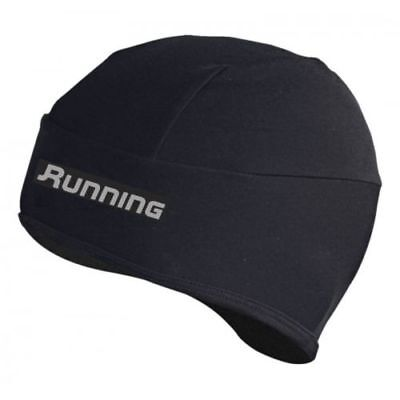 Running Cycling Thermal Black Skull Cap Hat - All Sizes