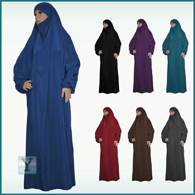 Overhead Jilbab one Piece Hijab Abaya Khimar Headscarf Prayer dress 1 piece