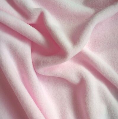 Tissu Micropolaire rose dragée (100% polyester oekotex)